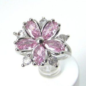 Pink FLOWER Ring size 7.5